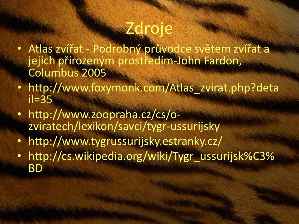 Zdroje Atlas zvířat - Podrobný průvodce světem zvířat a jejich přirozeným prostředím-John Fardon, Columbus 2005.