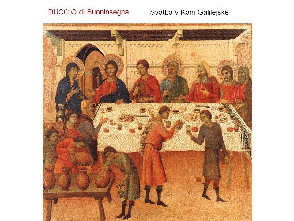DUCCIO di Buoninsegna Svatba v Káni Galilejské