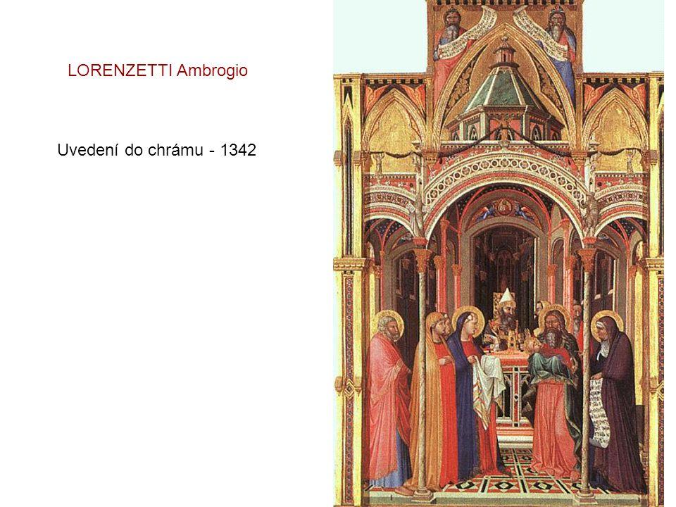 LORENZETTI Ambrogio Uvedení do chrámu - 1342