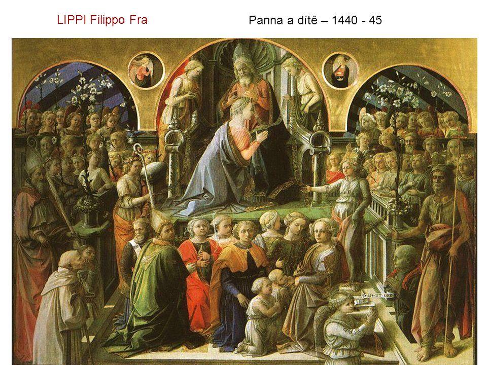 LIPPI Filippo Fra Panna a dítě – 1440 - 45
