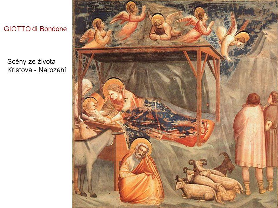 GIOTTO di Bondone Scény ze života Kristova - Narození