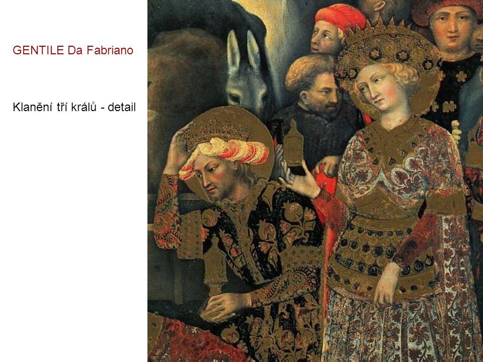 GENTILE Da Fabriano Klanění tří králů - detail