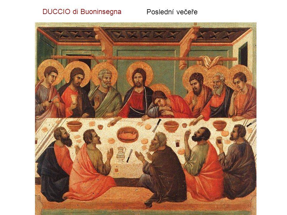DUCCIO di Buoninsegna Poslední večeře