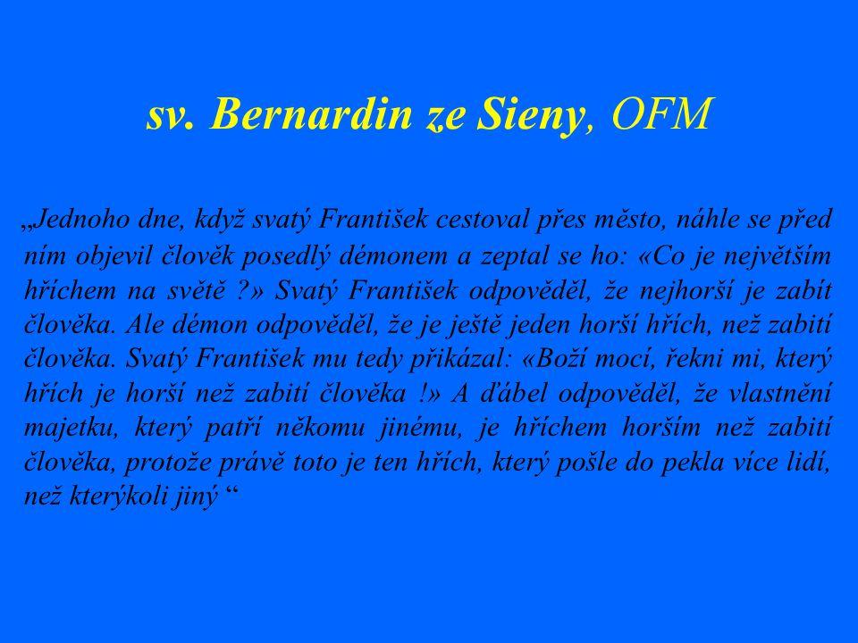 sv. Bernardin ze Sieny, OFM