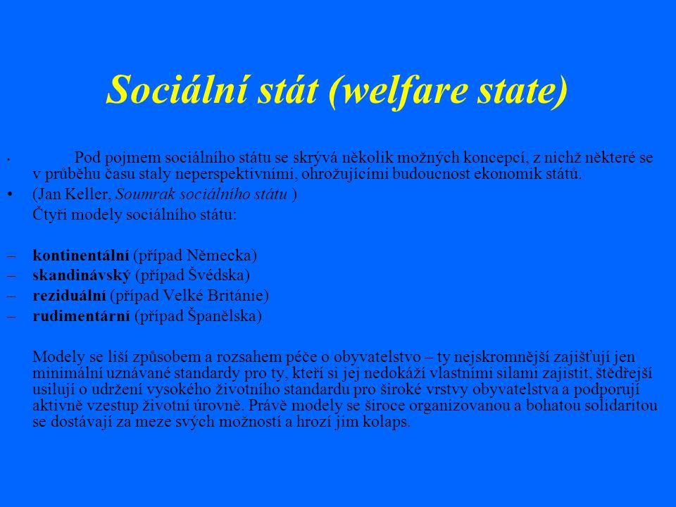 Sociální stát (welfare state)