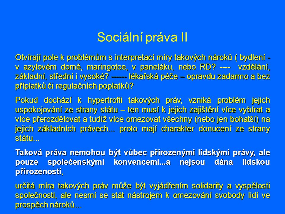 Sociální práva II
