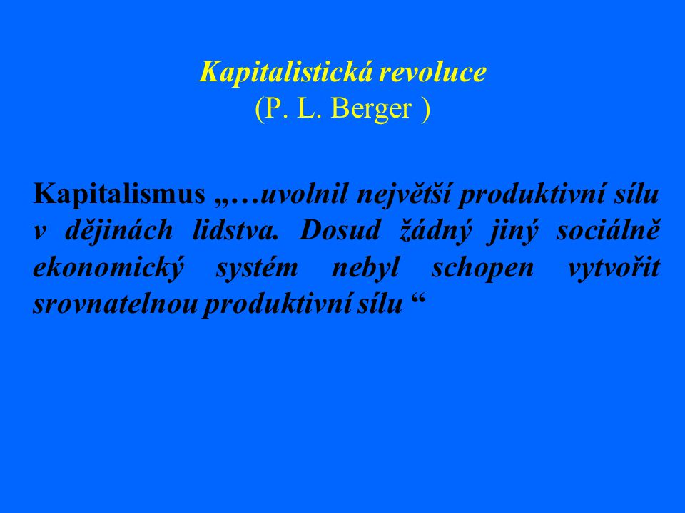 Kapitalistická revoluce (P. L. Berger )