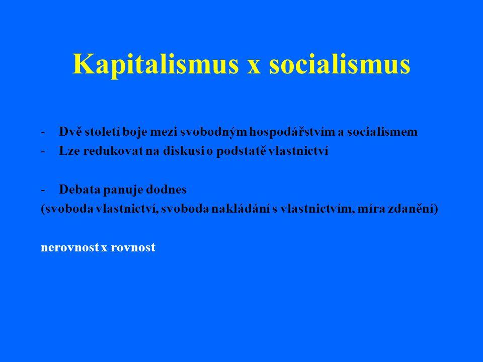 Kapitalismus x socialismus