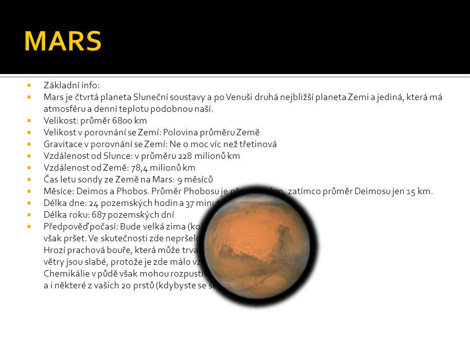 MARS Základní info: