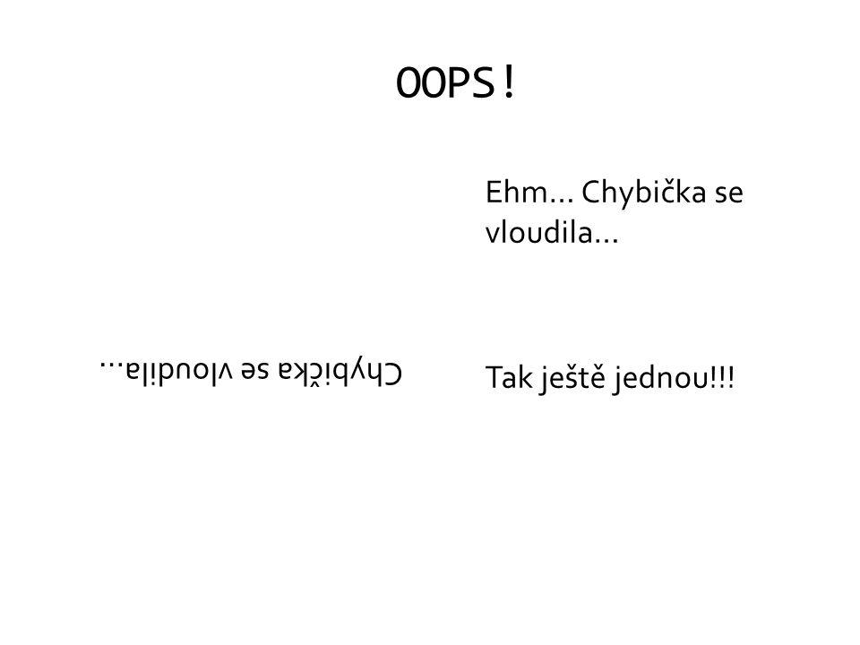 OOPS! Ehm… Chybička se vloudila… Tak ještě jednou!!!