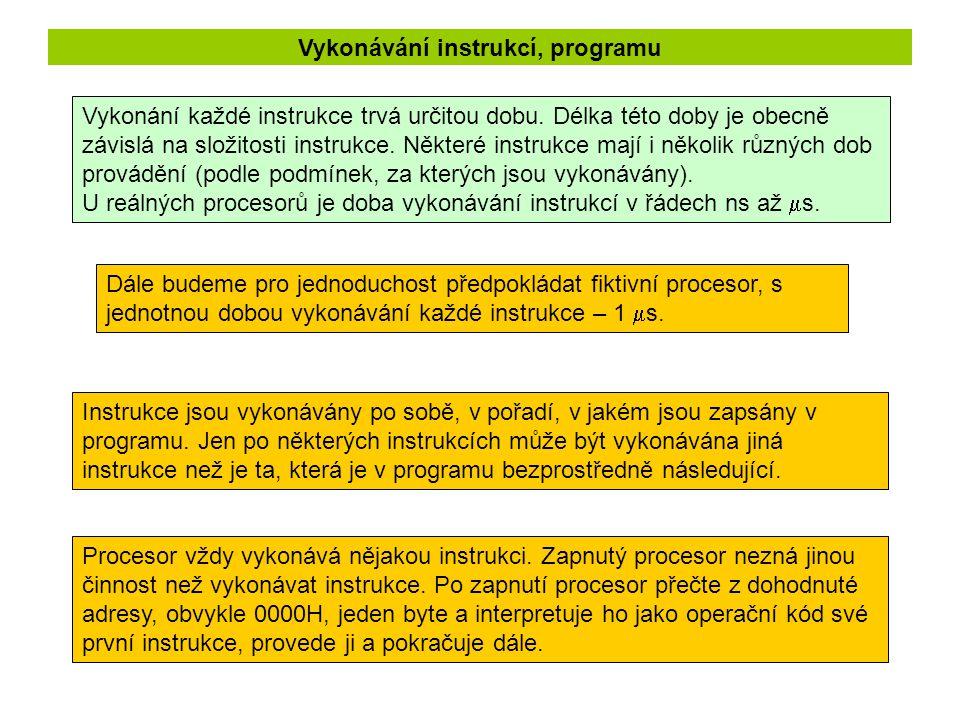 Vykonávání instrukcí, programu
