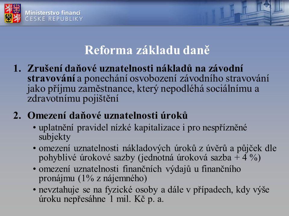 Reforma základu daně