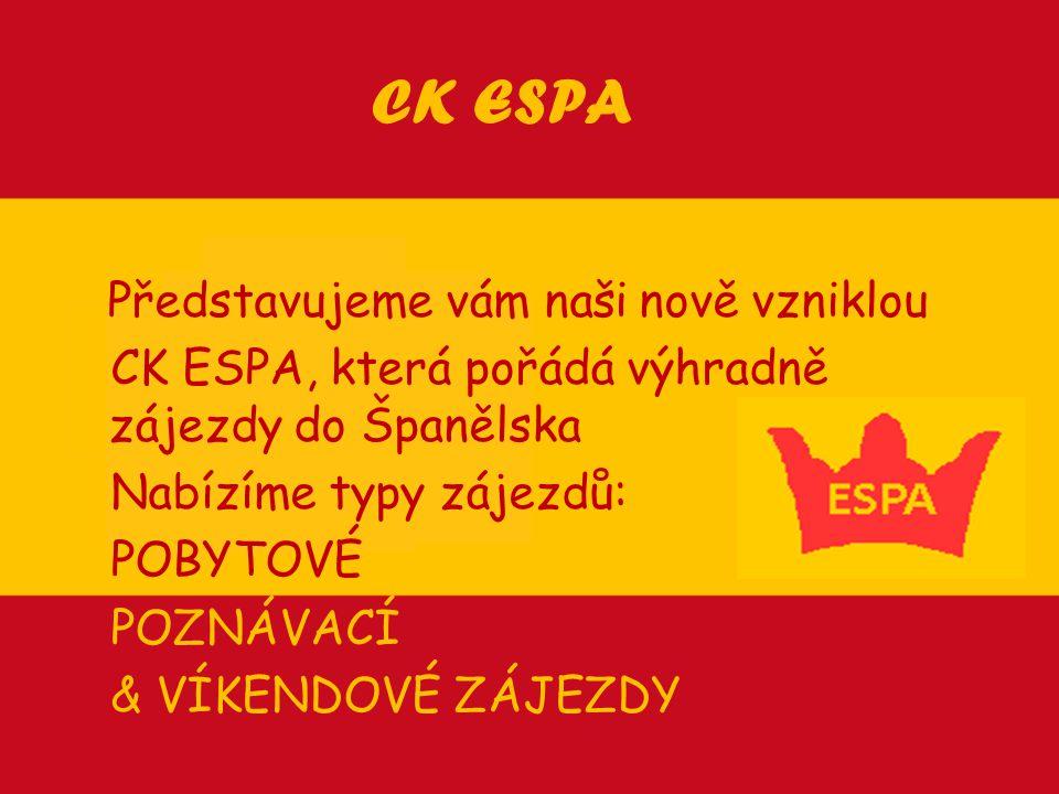 CK ESPA Představujeme vám naši nově vzniklou