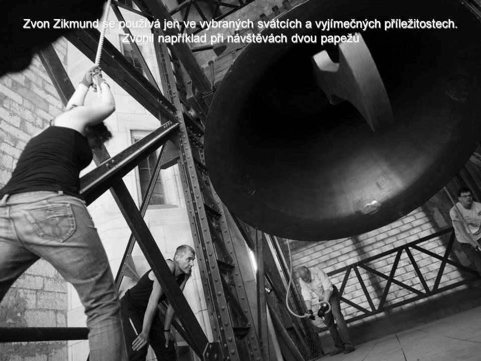 Zvon Zikmund se používá jen ve vybraných svátcích a vyjímečných příležitostech.