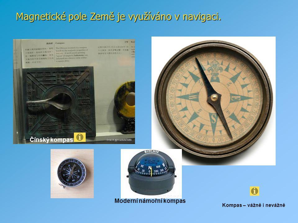 Magnetické pole Země je využíváno v navigaci.