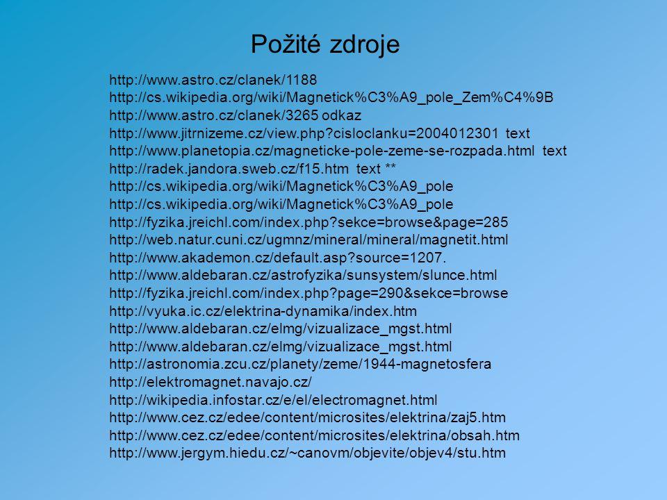 Požité zdroje http://www.astro.cz/clanek/1188