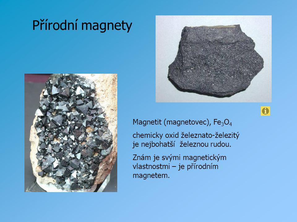 Přírodní magnety Magnetit (magnetovec), Fe3O4