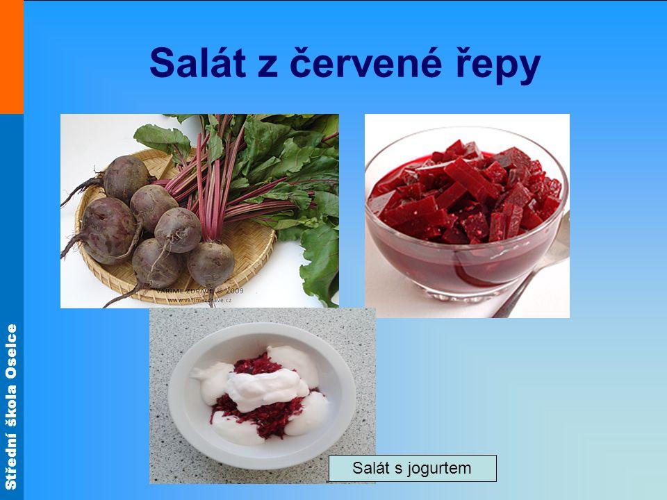 Salát z červené řepy Salát s jogurtem