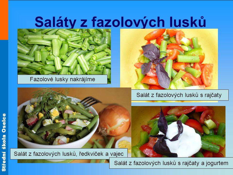 Saláty z fazolových lusků