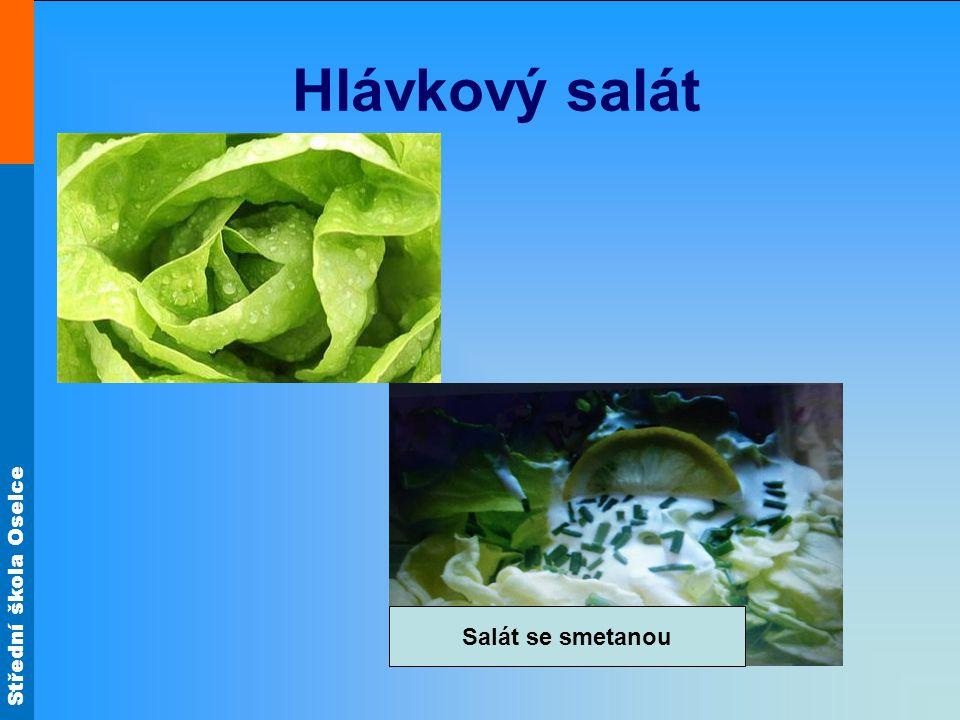 Hlávkový salát Salát se smetanou
