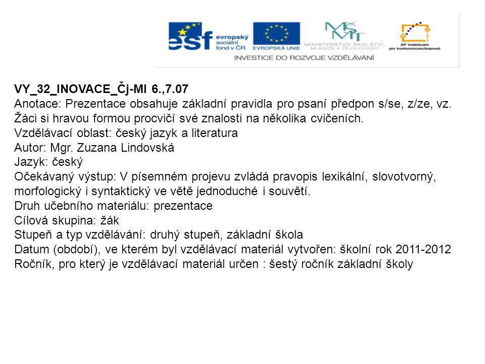 VY_32_INOVACE_Čj-Ml 6.,7.07