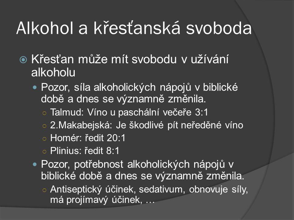 Alkohol a křesťanská svoboda