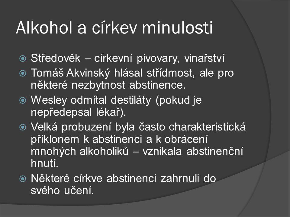 Alkohol a církev minulosti