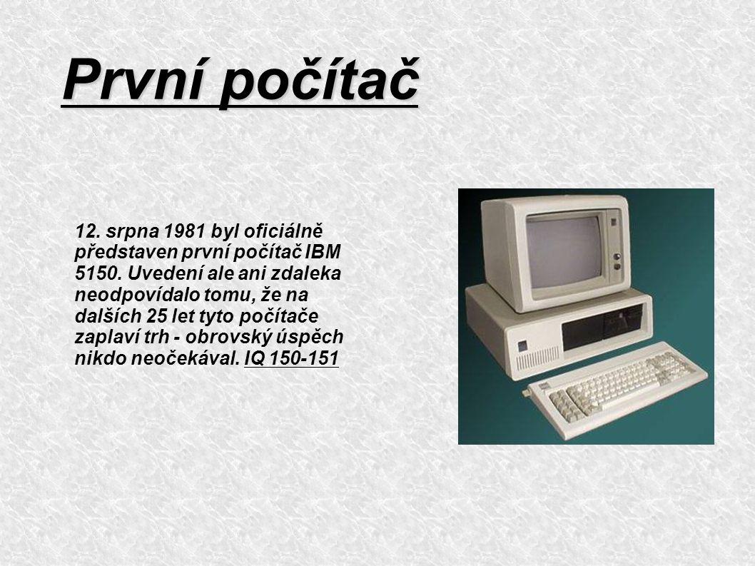 První počítač