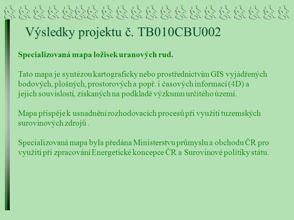 Výsledky projektu č. TB010CBU002