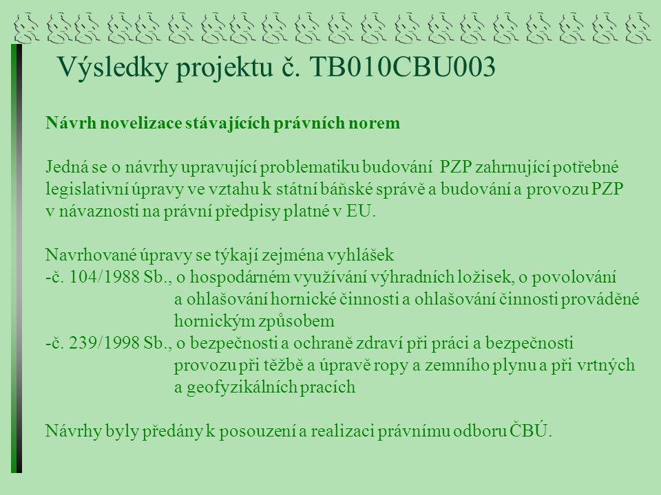 Výsledky projektu č. TB010CBU003