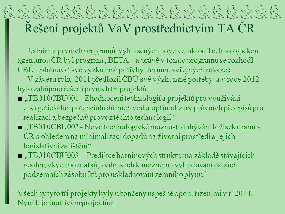 Řešení projektů VaV prostřednictvím TA ČR