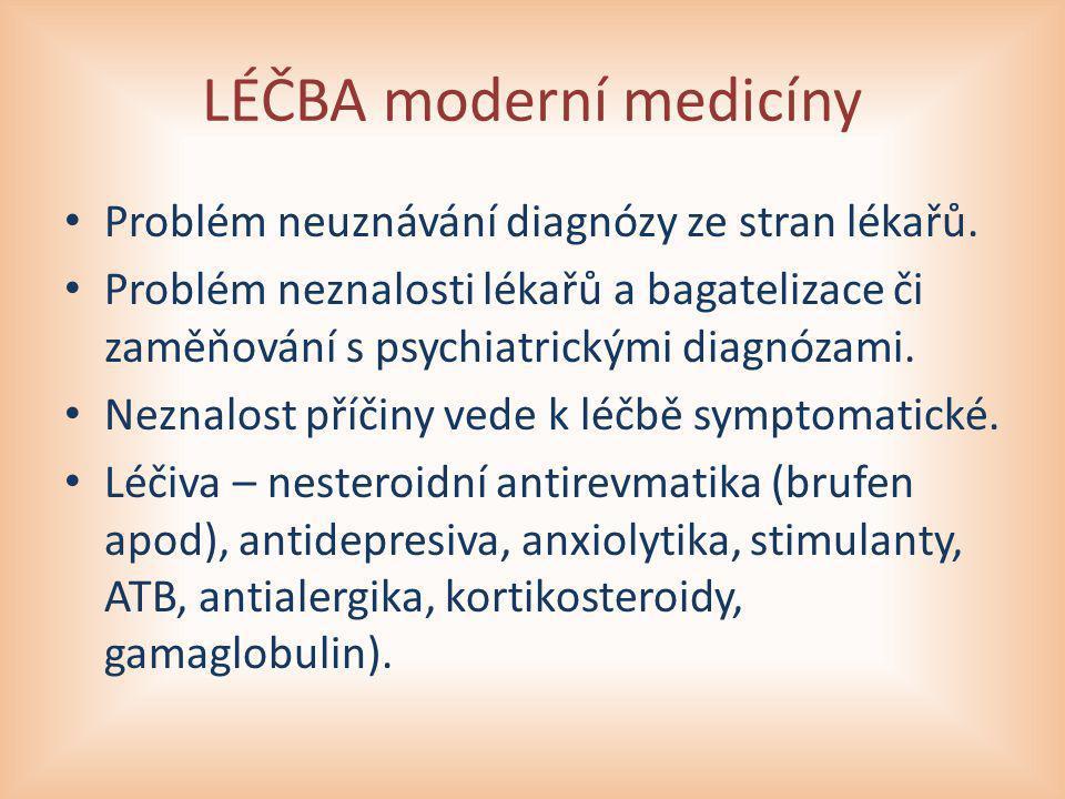 LÉČBA moderní medicíny