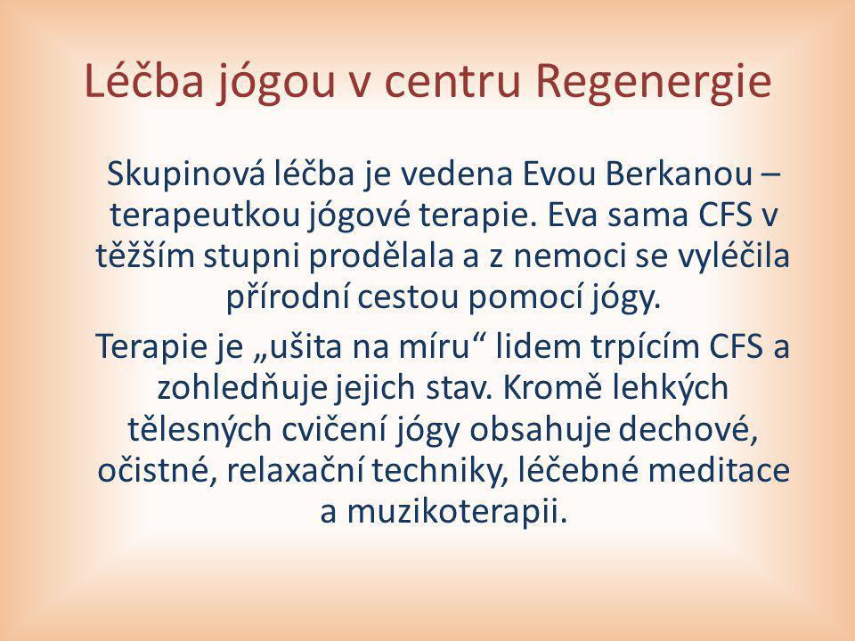 Léčba jógou v centru Regenergie