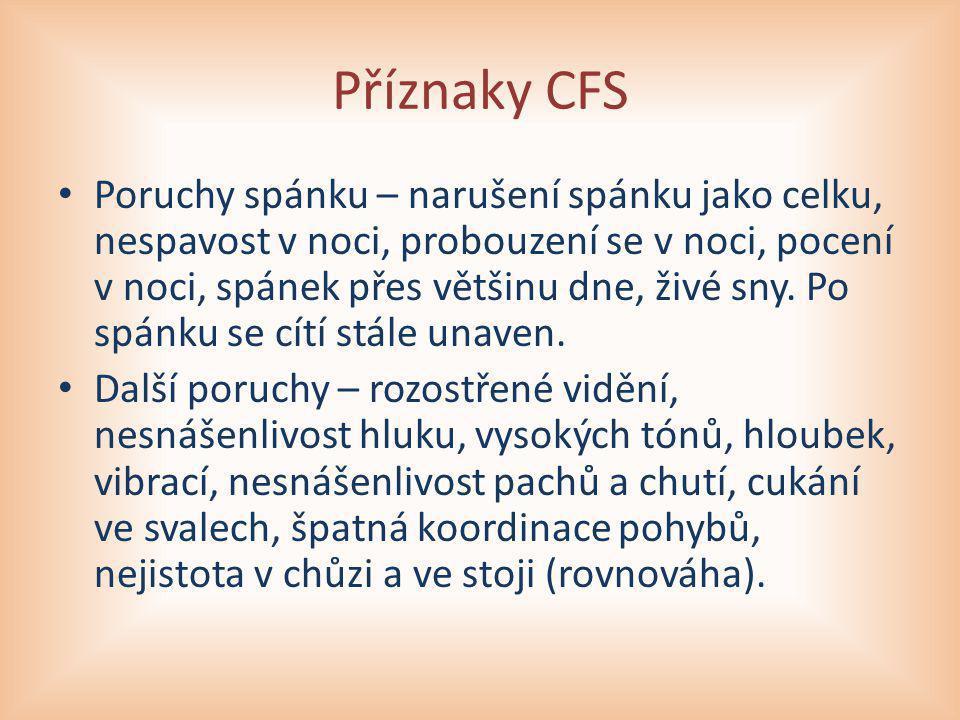 Příznaky CFS