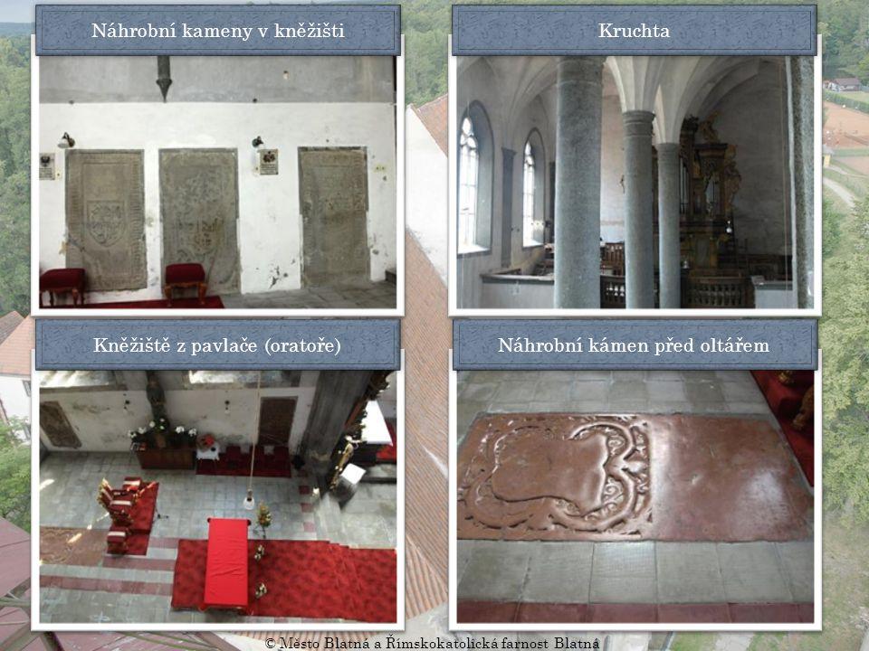 Náhrobní kameny v kněžišti Kruchta