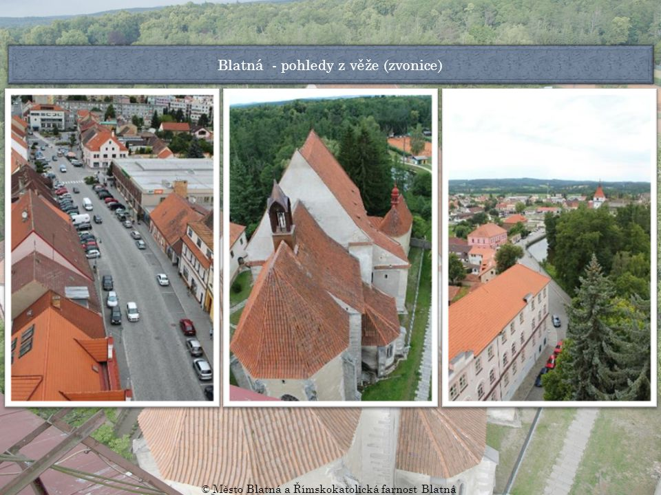 Blatná - pohledy z věže (zvonice)