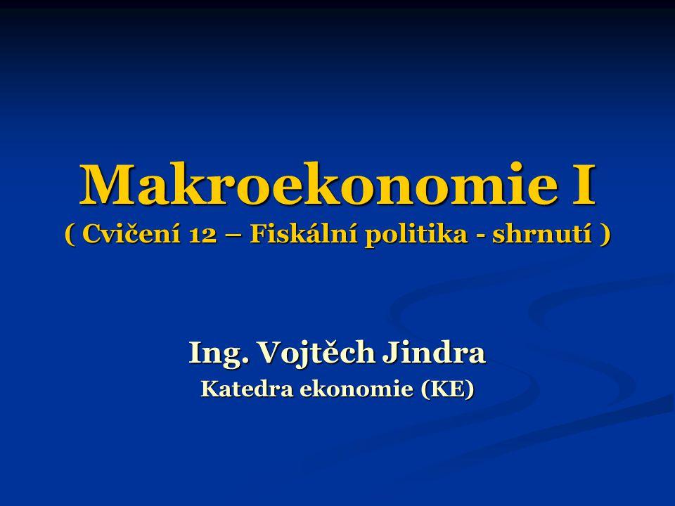 Makroekonomie I ( Cvičení 12 – Fiskální politika - shrnutí )