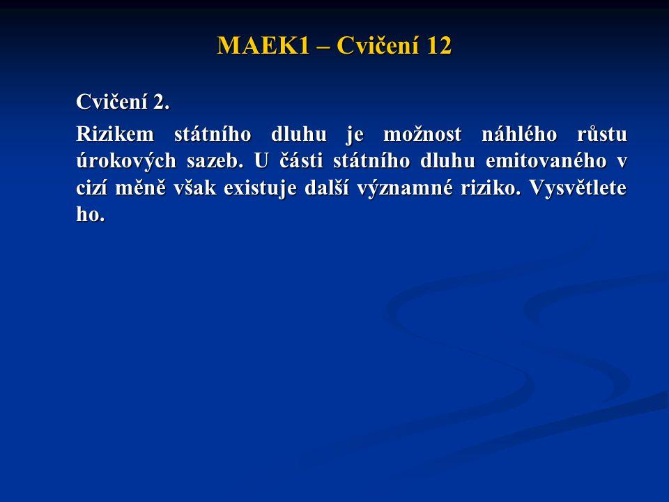 MAEK1 – Cvičení 12