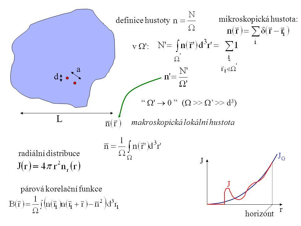 L a d mikroskopická hustota: definice hustoty v W :