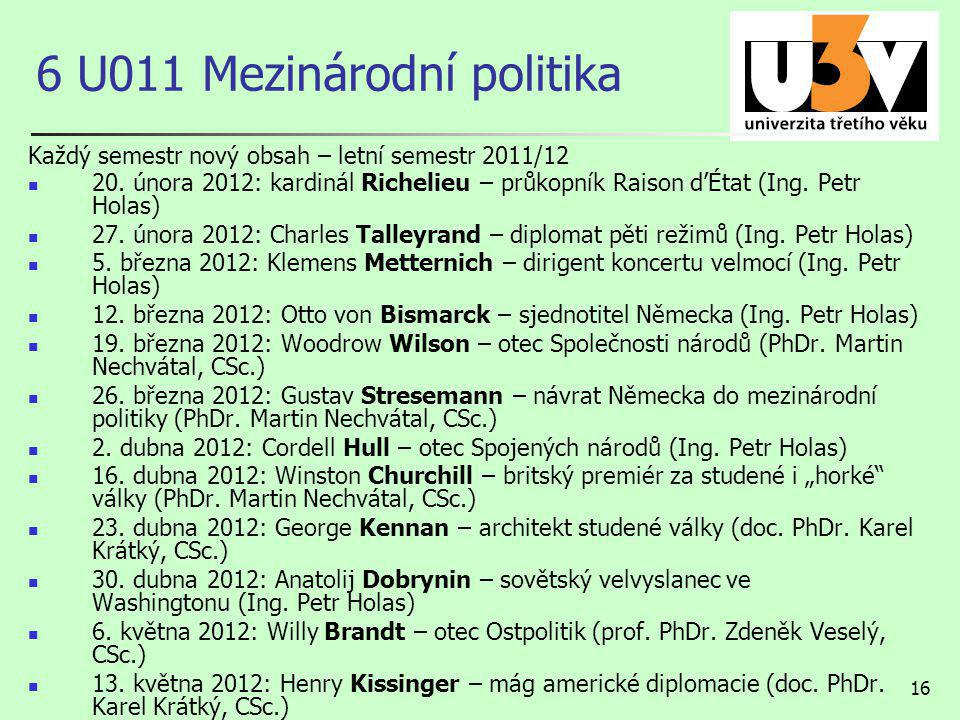 6 U011 Mezinárodní politika