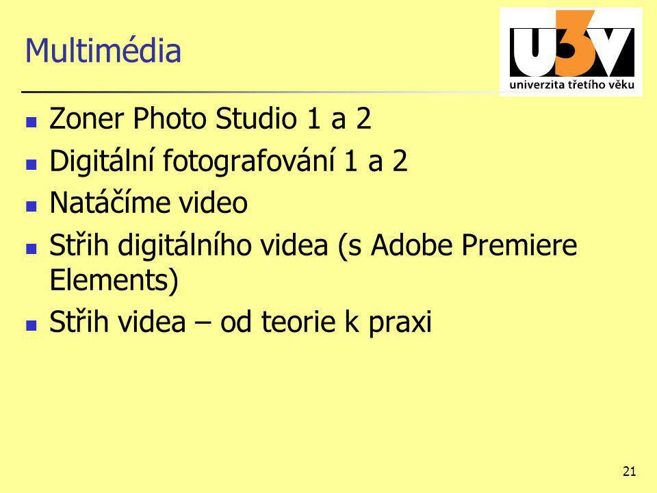 Multimédia Zoner Photo Studio 1 a 2 Digitální fotografování 1 a 2