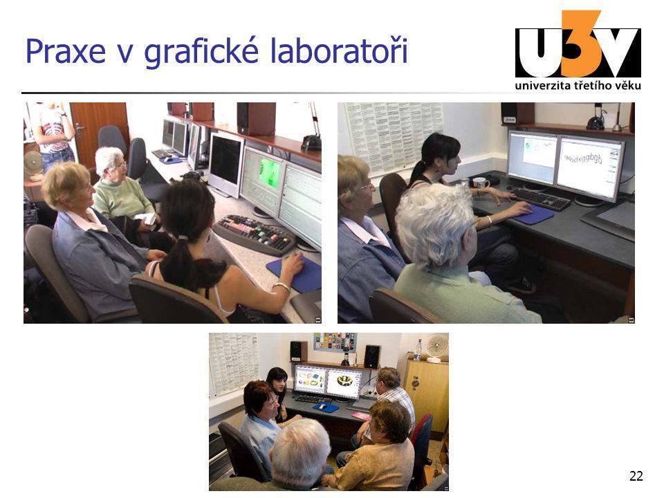 Praxe v grafické laboratoři