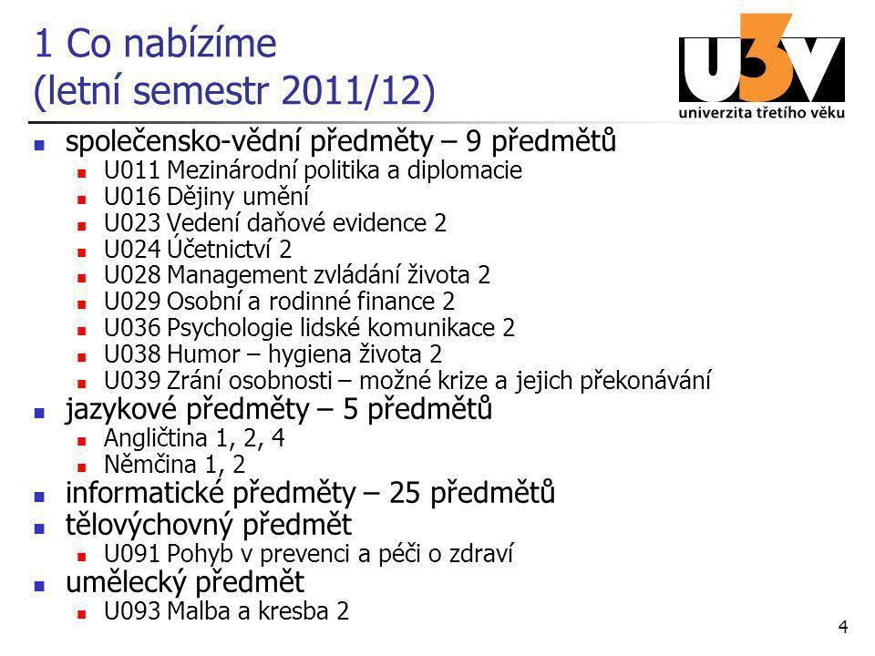 1 Co nabízíme (letní semestr 2011/12)