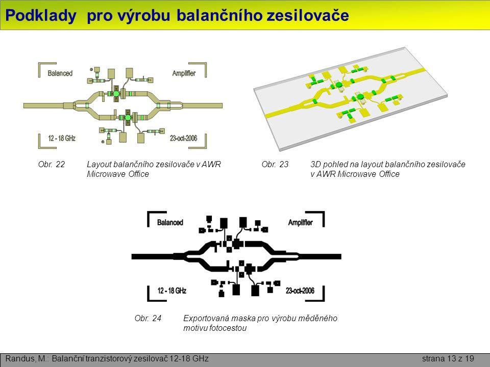 Podklady pro výrobu balančního zesilovače