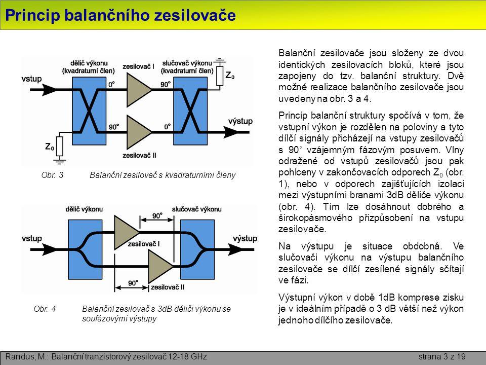 Princip balančního zesilovače