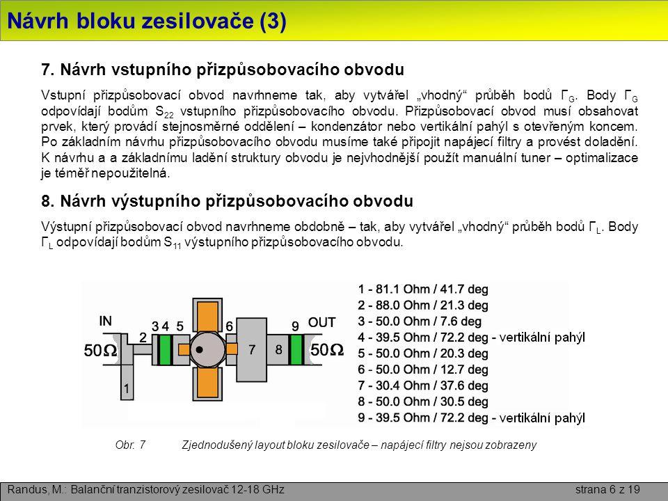 Návrh bloku zesilovače (3)
