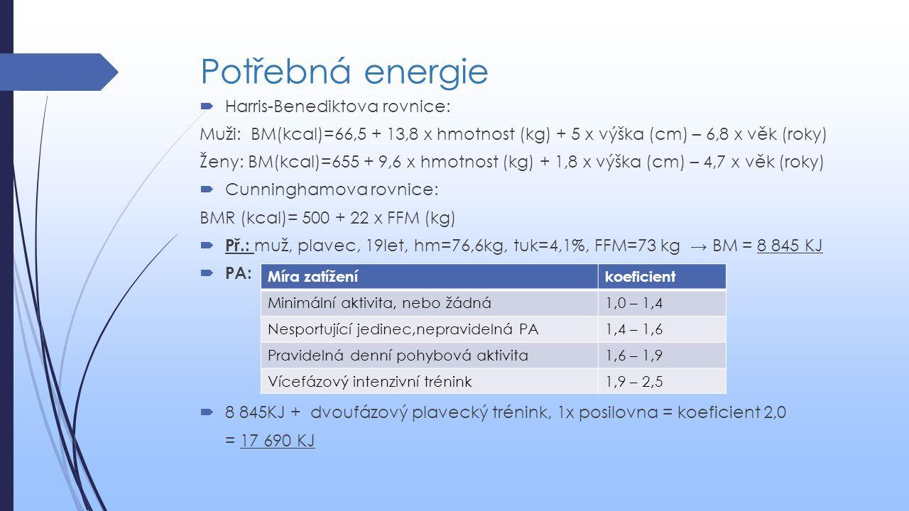 Potřebná energie Harris-Benediktova rovnice: