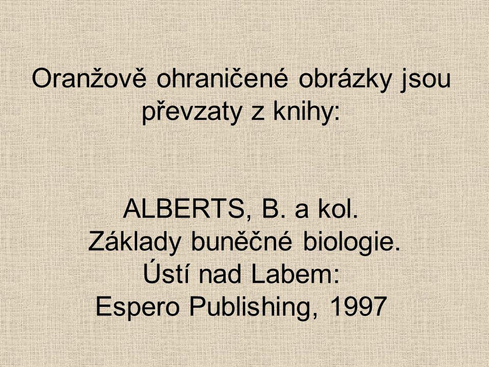 Oranžově ohraničené obrázky jsou převzaty z knihy: ALBERTS, B. a kol