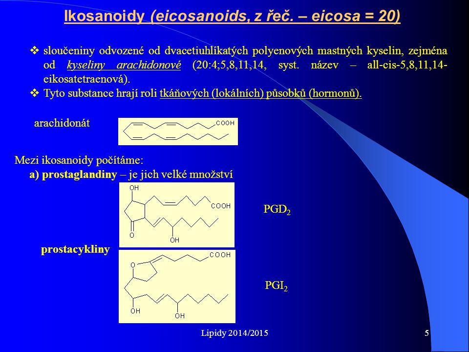 Ikosanoidy (eicosanoids, z řeč. – eicosa = 20)