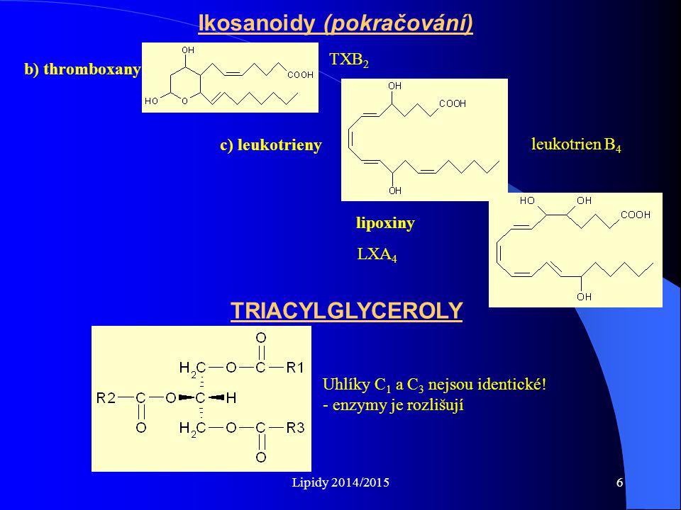 Ikosanoidy (pokračování)